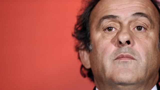 Michel Platini, président de la Confédération européenne de football (UEFA), le 23 octobre 2012 à Paris [Lionel Bonaventure / AFP/Archives]