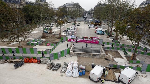 Vue des travaux de la place de la République, le 24 octobre 2012 à Paris [Francois Guillot / AFP/Archives]