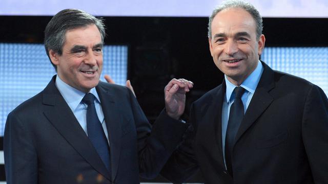 François Fillon et Jean-François Copé sur le plateau de France 2, à Paris le 25 octobre 2012 [Miguel Medina / AFP/Archives]