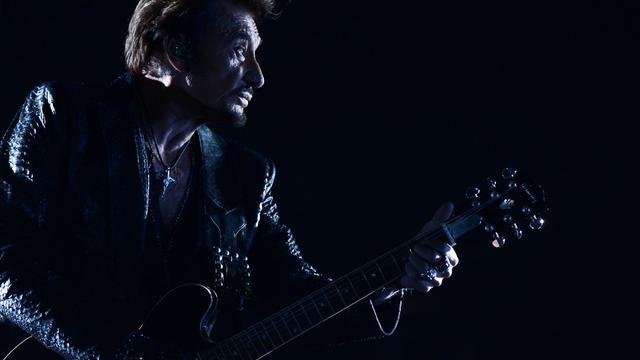 Le chanteur Johnny Hallyday lors d'un concert à Moscou, le 27 octobre 2012 [Natalia Kolesnikova / AFP/Archives]