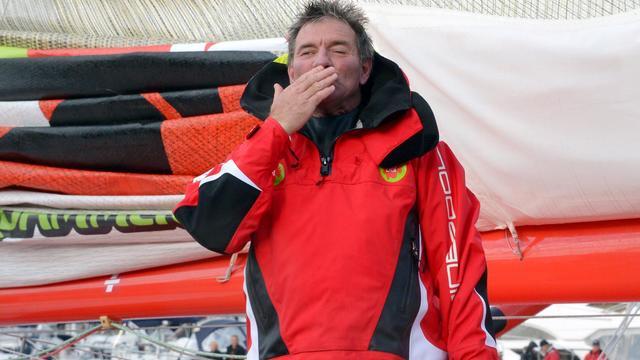Le skipper Kito de Pavant le 10 novembre 2012 avant le départ du Vendée Globe aux Sables d'Olonne [Damien Meyer / AFP/Archives]