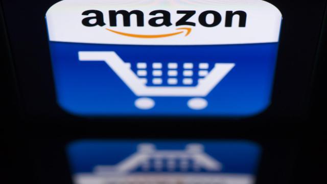Le logo de l'entreprise de commerce en ligne Amazon [Lionel Bonaventure / AFP/Archives]