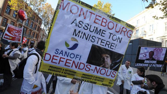 Des manifestants de Sanofi à Toulouse le 14 novembre 2012 [Eric Cabanis / AFP/Archives]