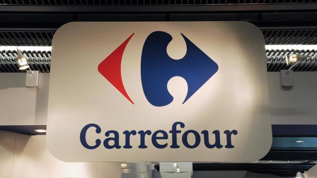 Le logo de Carrefour [Eric Piermont / AFP/Archives]