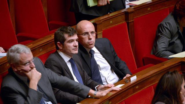 Le député UMP Eric Ciotti (d) à l'Assemblée en novembre 2012 [Martin Bureau / AFP/Archives]
