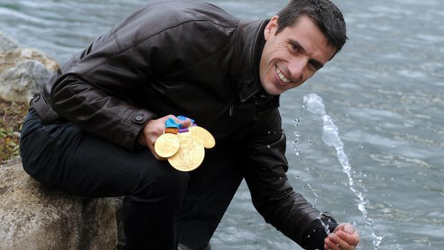 Le Français Tony Estanguet le 29 novembre 2012 à Pau [Gaizka Iroz / AFP/Archives]