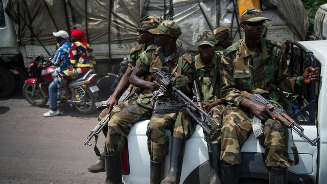 Soldats du mouvement rebelle congolais du M23, le 1er décembre 2012 à Goma [Phil Moore / AFP/Archives]
