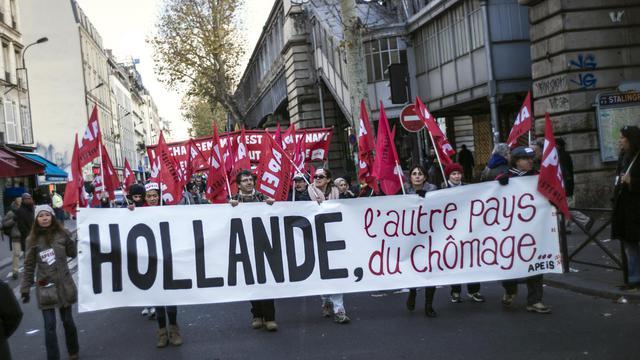 Manifestation contre la montée du chômage, le 1er décembre 2012 à Paris [Fred Dufour / AFP/Archives]