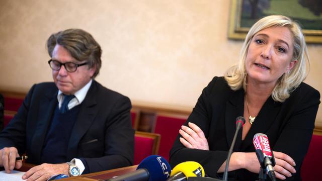 Marine Le Pen et Gilbert Collard à Paris le 4 décembre 2012 [Martin Bureau / AFP/Archives]