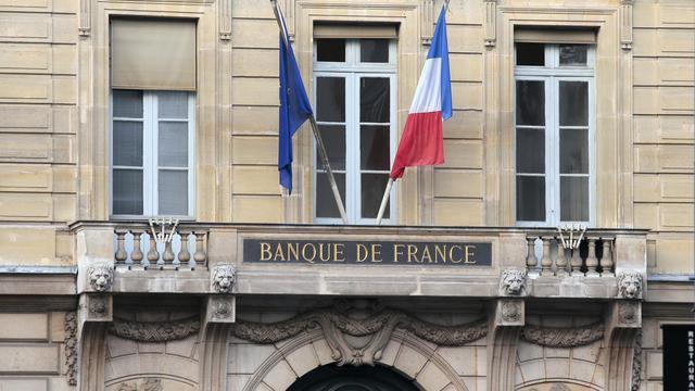 Le fronton de la Banque de France, à Paris [Jacques Demarthon / AFP/Archives]