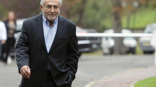 Dominique Strauss-Kahn, le 9 octobre 2011 à Sarcelles, près de Paris [Miguel Medina / AFP/Archives]