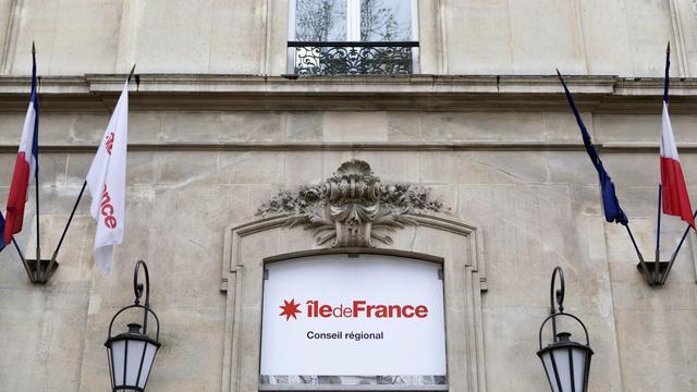 Vue de l'entrée du Conseil régional d'Ile-de-France à Paris [Edouard de Mareschal / AFP/Archives]