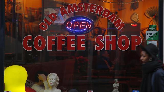 La vitrine d'un coffee shop à Amsterdam [Alexander Klein / AFP/Archives]