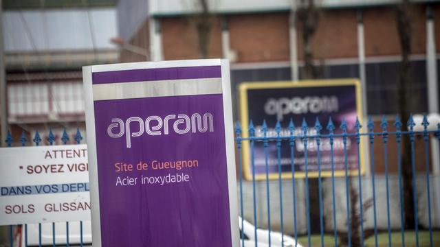Une usine du groupe Aperam, le 24 décembre 2012 à Gueugnon [Jeff Pachoud / AFP/Archives]