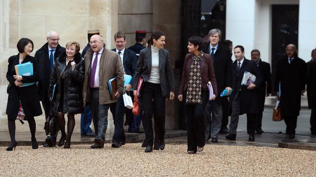Une partie du gouvernement de Jean-Marc Ayrault, le 3 janvier 2013, à l'Elysée [Eric Feferberg / AFP/Archives]