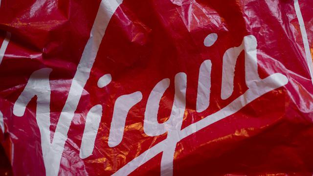 Le logo de Virgin sur un sac en plastique [Joel Saget / AFP/Archives]
