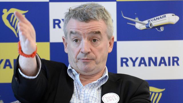 Michael O'Leary, PDG de Ryanair, pose le 16 janvier 2013 à Vitrolles près de Marseille [Gerard Julien / AFP/Archives]