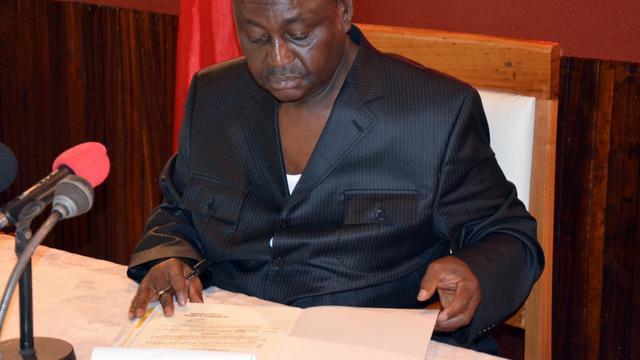 Le président François Bozizé à Bangui, le 17 janvier 2013 [Patrick Fort / AFP/Archives]