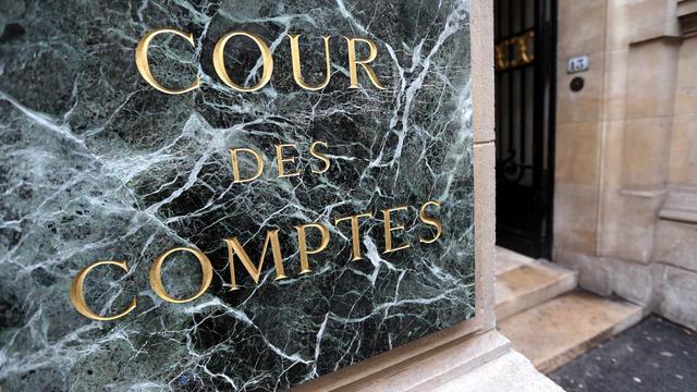 L'entrée de la Cour des comptes à Paris [Thomas Samson / AFP/Archives]