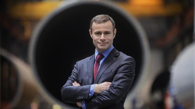 Raphaël Gorgé, PDG du groupe éponyme, le 1er février 2013 au Cresot (centre est) [Jeff Pachoud / AFP/Archives]