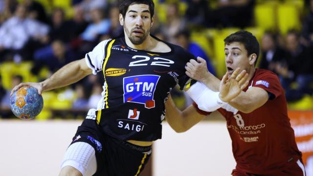 Le handballeur français Nikola Karabatic lors d'un match entre Aix-en-Provence et Monaco le 2 février 2013 à Monaco [Valery Hache / AFP]