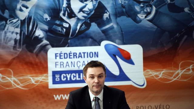 Le président de la FFC David Lappartient, lors d'une conférence de presse, le 6 février 2013 à Rosny-sous-Bois [Lionel Bonaventure / AFP]