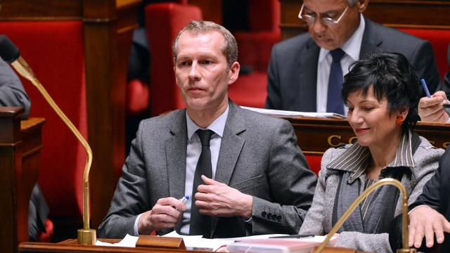 Guillaume Garot et Dominique Bertinotti le 19 février 2013 à l'Assemblée nationale à Paris [Miguel Medina / AFP/Archives]