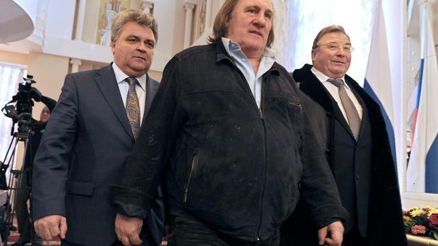 Gérard Depardieu à Saransk le 23 février 2013 [Andrey Smirnov / AFP/Archives]