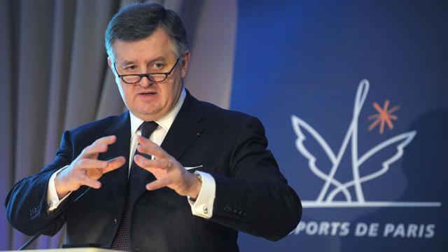 Augustin de Romanet , le PDG des Aéroports de Paris, le 28 février 2013 à Paris [Eric Piermont / AFP]