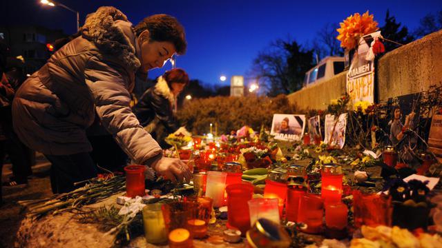Hommage le 5 mars 2013 à Varma en Bulgarie à un homme qui s'est immolé [Nikolay Doychinov / AFP/Archives]