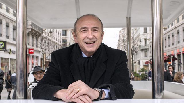 Le sénateur-maire socialise de Lyon, Gérard Collomb, pose le 13 mai 2013 à Lyon [Philippe Merle / AFP/Archives]