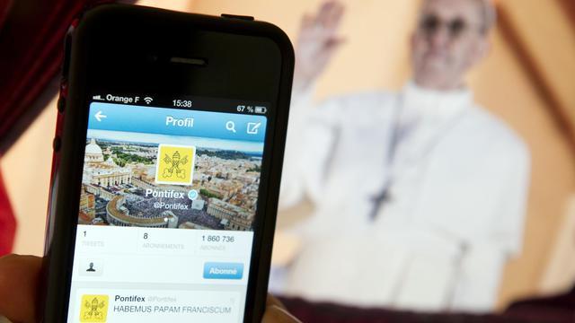 Une vue du compte Twitter officiel du pape François (@pontifex) [Lionel Bonaventure / AFP/Archives]