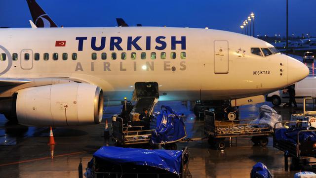 Un avion de la Turkish Airlines, le 16 mars 2013 sur l'aéroport d'Istanbul [Bulent Kilic / AFP]
