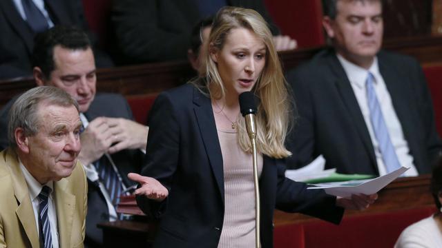 La député (FN) Marion Maréchal-Le Pen à l'Assemblée le 19 mars 2013 [Patrick Kovarik / AFP/Archives]