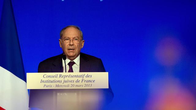 Le président du CRIF, Richard Prasquier, le 20 mars 2013 à Paris [Joel Saget / AFP/Archives]