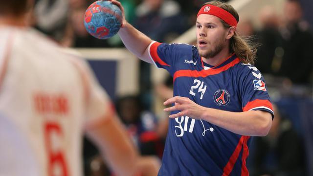 L'arrière gauche danois du PSG Handball Mikkel Hansen lors du match de championnat contre Chambéry, le 21 mars 2013, à Paris [Thomas Samson / AFP/Archives]