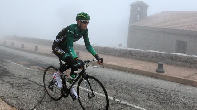 Le coureur Pierre Rolland s'entraîne avant le Critérium international, à Ospedale (Corse), le 22 mars 2013 [Pascal Pochard-Casbianca / AFP/Archives]