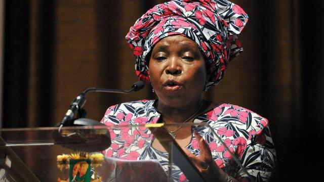 La présidente de la Commission de l'UA, la sud-africaine Nkosazana Dlamini-Zuma, le 25 mars 2013 à Abidjan [Issouf Sanogo / AFP/Archives]