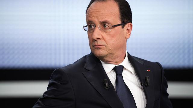 François Hollande lors de son passage télévisé sur France 2, le 28 mars 2013 [Fred Dufour / AFP/Archives]