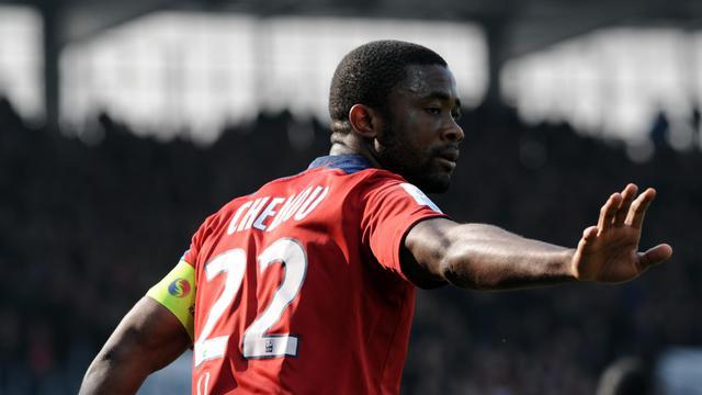 Le défenseur international camerounais de Lille (L1) Aurélien Chedjou, lors d'un match le 31 mars 2013 à Brest [Fred Tanneau / AFP/Archives]
