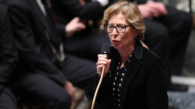 La ministre de l'Enseignement supérieur, Geneviève Fioraso, le 2 avril 2013 à l'Assemblée nationale à Paris [Pierre Verdy / AFP/Archives]