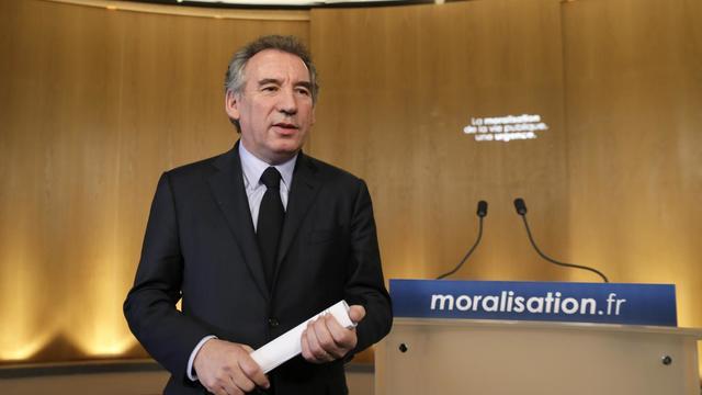 François Bayrou, le 3 avril 2013 lors d'une conférence de presse à Paris [Kenzo Tribouillard / AFP/Archives]