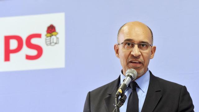Harlem Désir, premier secrétaire du Parti socialiste, en meeting le 5 avril 2013 à Limoges [Pascal Lachenaud / AFP/Archives]