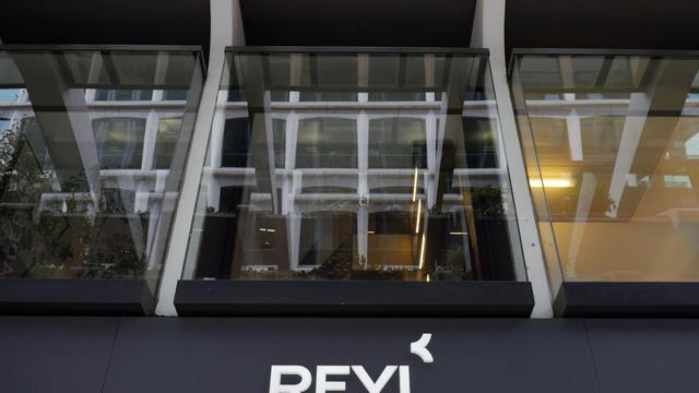 L'entrée de la banque Reyl, le 8 avril 2013, à Genève [Fabrice Coffrini / AFP/Archives]