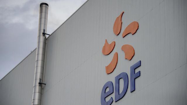 Le logo du producteur et distributeur d'électricité EDF [Sebastien Bozon / AFP/Archives]