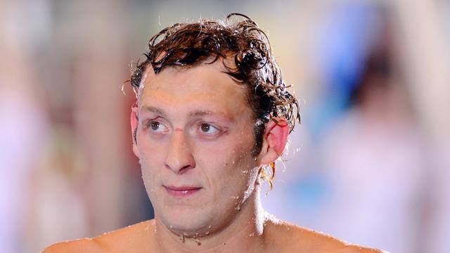 Le nageur français Amaury Levaux lors des championnats de France le 10 avril 2013 à Rennes [Alain Jocard / AFP/Archives]