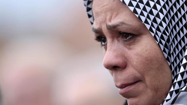 Latifa Ibn Ziaten, la mère du premier soldat tué par Mohammed Merah, le 11 avril 2013 à Sotteville-lès-Rouen [Charly Triballeau / AFP/Archives]