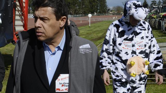 Le président de la FNSEA,le 12 avril 2013 à Feurs, dans le sud-est de la France [Philippe Desmazes / AFP/Archives]