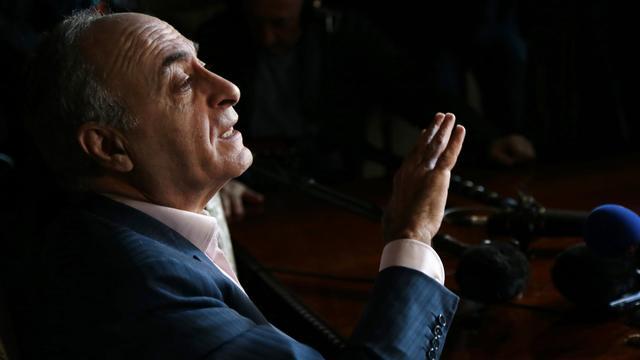 L'homme d'affaires franco-libanais Ziad Takieddine donne une conférence de presse, le 12 avril 2013 à Paris [Jacques Demarthon / AFP/Archives]