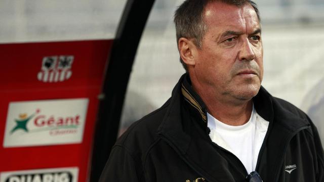 L'entraîneur d'Ajaccio Albert Emon, le 13 avril 2013 au stade François Coty [Pascal Pochard Casabianca / AFP/Archives]